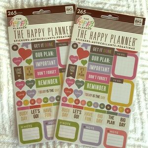 The Happy Planner Set of 2 Sticker Packs PPS-66